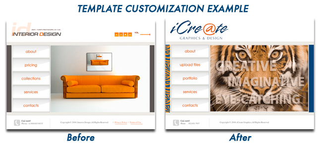 iCreate Web Design Templates and Customization
